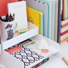 Sharing ideas on how to keep you desk space organized, functional and pretty all at the same time.