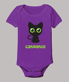 Take a look at this Purple Cat Personalized Bodysuit - Infant on zulily today!