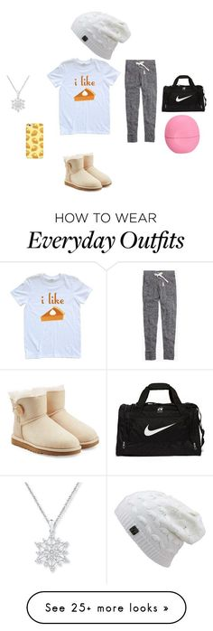 """Grace's everyday outfit"" by all-sarah on Polyvore featuring Madewell, UGG Australia, NIKE and Eos"