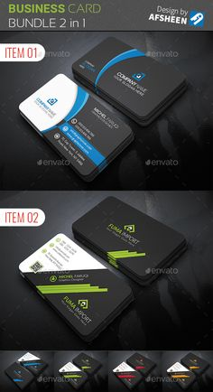 Business Card Bundle 2 in 1 - Creative Business Cards Buy Business Cards, Free Business Card Design, Professional Business Card Design, Modern Business Cards, Creative Business, Free Printable Business Cards, Visit Cards, Id Card Design, Graphic Design Tips