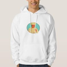 Chef With Mustache Thumbs Up Circle WPA Hooded Sweatshirt. WPA style illustration of a chef with mustache doing a thumbs up viewed from the front set inside circle. #illustration #ChefWithMustacheThumbsUp