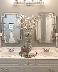 Bathroom Decor spa ideas home decored bathroom spa Bathroom Spa, Bathroom Interior, Bathroom Ideas, Master Bathroom, Bathroom Organization, Small Bathroom, Elegant Bathroom Decor, Bathroom Counter Decor, Disney Bathroom