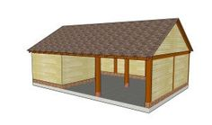 This step by step woodworking project is about free single lean to carport plans. I have designed this sturdy carport with a lean to roof, so you can protect your vehicle from the weather elements. Lean To Carport, Building A Carport, Diy Carport, Carport Plans, Double Carport, Shed Plans, Building Plans, Carport Ideas, Garage Ideas