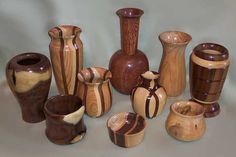 Unique wooden vases. wooden bowl, wooden urns, wooden containers, wooden flower vases, wooden goblets, and more. Each an original design, personally handmade by VanEss Expressions.