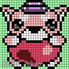妖怪ウォッチ「キュン太郎」のアイロンビーズ図案! | BEADS.TOKYO