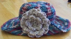 Crocheted Women's Sun Hat with Wide Brim and by PaintedOnPlaques, $35.00