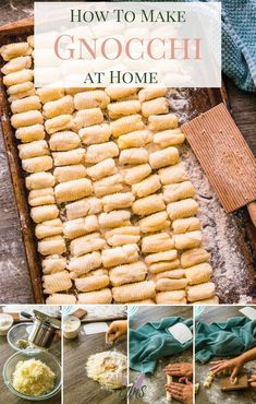 Making gnocchi at home couldnt be any easier than what Im about to show you! With easy step-by-step instructions Ill give you the best tips and tricks I know so you can know how to make gnocchi! via Marlee @ I Just Make Sandwiches Easy Pasta Recipes, Great Recipes, Easy Meals, Dinner Recipes, Favorite Recipes, Gnocchi Recipes, Noodle Recipes, Delicious Recipes, Dinner Ideas