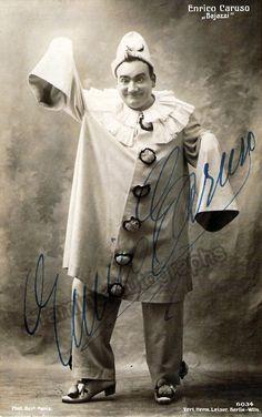 Caruso, Enrico - Signed Photo in Pagliacci + Program Clip + Vintage Ad | Tamino Autographs