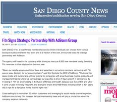 "Fitn on San Diego County News ""Fitn signs partnership with AdBoom Group"""