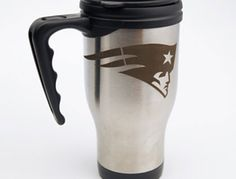 personalized coffee mug and gift items with a Trotec Laser System. Patriotic Crafts, Patriotic Party, Trotec Laser, Gravure Laser, New England Patriots Football, Laser Machine, Metal Engraving, Personalized Coffee Mugs, Drinkware