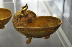 Gold dish from Thracian King Tomb, apx 350 BC, Bulgaria. Photo D.
