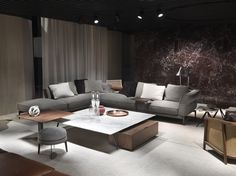 #FLEXFORM ADDA #sofa and TOSCA #armchair, #design Antonio Citterio @Salonedelmobile Milano 2017
