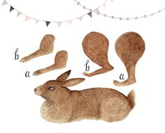 Image of Rabbit ARTICULATED PAPER DOLL-PRINT AT HOME