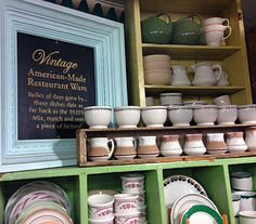 Love the vintage Restaurant Ware at NYC's Fishs Eddy