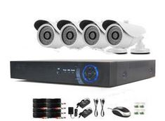 Product Overview: Complete CCTV system with high definition night vision cameras. Retail Box, Night Vision, 1 Year, Kit