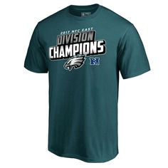 Philadelphia Eagles NFL Pro Line by Fanatics Branded 2017 NFC East Division Champions  T-Shirt – Midnight Green c2205120e