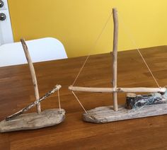 More driftwood boats