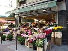 Flower shop on Rue Cler
