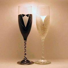 too cute - Wedding Toasting Flutes