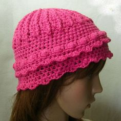 Crochet Romantic Cap Wool Angora and Cashmere mix by theoldhooker, $40.00