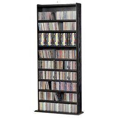 WATSONS BALTIMORE - Large 730 CD/300 DVD/Blu-ray/Media Storage Shelves - Beech | Pinterest | Media storage Storage shelves and Shelves  sc 1 st  Pinterest & WATSONS BALTIMORE - Large 730 CD/300 DVD/Blu-ray/Media Storage ...