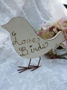 Love Birds Sign Bird Sign Wedding Love Birds by thefavorstation