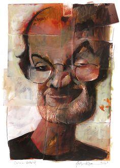 Salman Rushdie by Dave McKean Dave Mckean, Comic Book Artists, Comic Artist, Photo Repair, Salman Rushdie, Portrait Art, Portraits, Photomontage, Collage Art