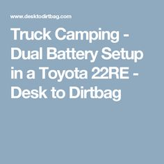 8 Best Dual Battery Setup images in 2017 | Campers, Camper trailers