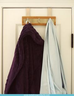 Lacking bathroom storage? Our Bamboo Stainless Steel Door Hooks are the perfect solution for robes and towels.