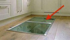 Sie ließen eine geheime Bodenklappe in der Küche einbauen. Der Grund ist schlau und auch perfekt für mich! - DIY Bastelideen
