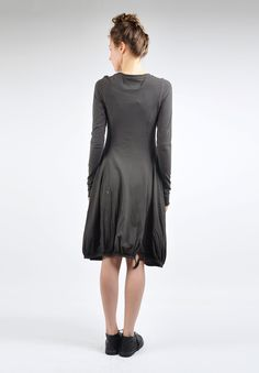 Rundholz Dip Knit Tulip Dress in Mohn » Santa Fe Dry Goods   Clothing and accessories from designers including Issey Miyake, Rundholz, Yoshi Yoshi, Annette Görtz and Dries Van Noten