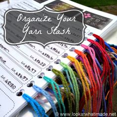 I am SO making something like this!!! Organize Your Yarn Stash :http://www.lookatwhatimade.net/crafts/yarn/organize-your-yarn-stash/