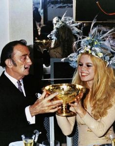 Brigette Bardot & Salvador Dali
