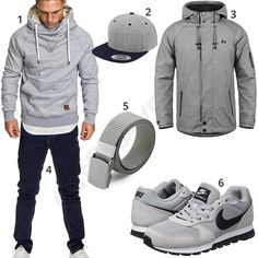 Dunkelblau-Graues Herrenoutfit mit Nikes (m0774) #outfit #style #herrenmode #männermode #fashion #menswear #herren #männer #mode #menstyle #mensfashion #menswear #inspiration #cloth #ootd #herrenoutfit #männeroutfit