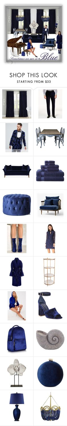 """Sometimes we are so BLUE"" by etsyynb ❤ liked on Polyvore featuring PBteen, Calvin Klein, Noose & Monkey, Michael Thomas Collection, Royal Velvet, &Tradition, Nasty Gal, Shoshanna, Mother of Pearl and Bliss Studio"