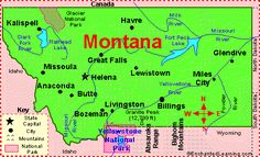 Montana: Facts, Map and State Symbols - EnchantedLearning.com