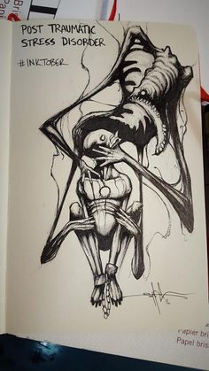 These Dark Drawings Capture the Struggle That Comes With Different Mental Illnesses - Art Sketches Creepy Drawings, Dark Art Drawings, Art Drawings Sketches, Horse Drawings, Art And Illustration, Dark Art Illustrations, Art Sinistre, Meaningful Drawings, Mental Health Art