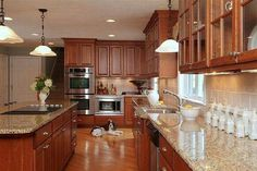 Uplifting Kitchen Remodeling Choosing Your New Kitchen Cabinets Ideas. Delightful Kitchen Remodeling Choosing Your New Kitchen Cabinets Ideas. Cherry Wood Kitchen Cabinets, Oak Kitchen, Kitchen Remodel, Modern Kitchen, Custom Kitchen Cabinets, Wood Kitchen, Home Kitchens, New Kitchen Cabinets, Kitchen Renovation