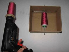Home-made serger thread spools | Grow Your Own Clothes
