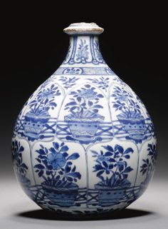 ❤ - A Chinese Blue and White Huqqa Base Made for the Persian Market, Kangxi, 1662-1722 - Sotheby's