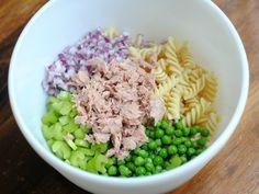 Tuna Pasta Salad---but sub plain yogurt for mayo