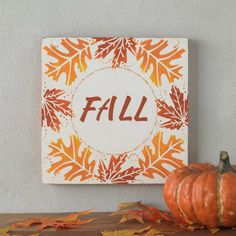Fall Sign for Home Decor