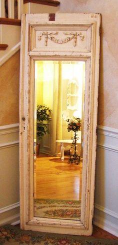 handgemachte Möbel und Dekorationen aus alten Türen spiegel idee