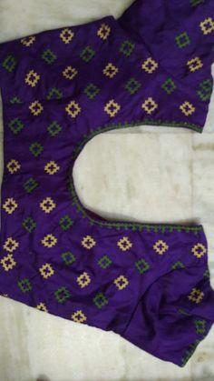 Hand Work Blouse Design, Simple Blouse Designs, Cotton Saree Blouse Designs, Kurta Designs, Kutch Work Designs, Mirror Work Blouse, Sarees, Indian, Patterns