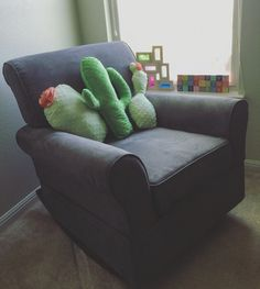 Cactus pillows I made for Violet's nursery.