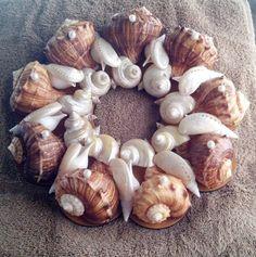 SeaShell Wreath 13  Rapana & Turbo Shells by Eagle414 on Etsy, $89.95
