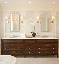 Bathroom Vanity, Mahogany Vanity By Colleen McGill Of McGill Design Group  And Plum Furniture
