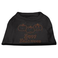 Mirage cat Products 20-Inch Happy Halloween Rhinestone Print Shirt for cats, 3X-Large, Black * New and awesome cat product awaits you, Read it now  : Cat Apparel