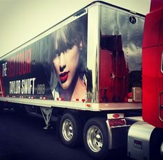 Taylor swift red tour truck