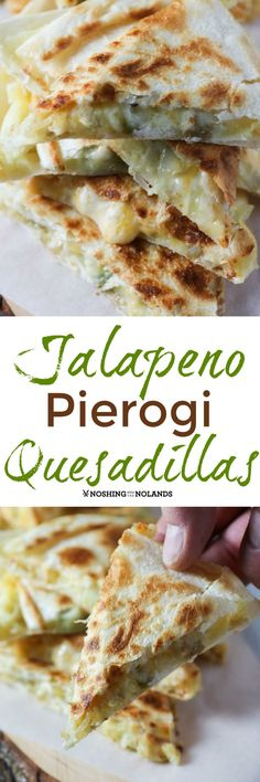 Jalapeno Pierogi Quesadillas by Noshing With The Nolands will surely become a family favorite with all the delicious goodness of Creamer potatoes!